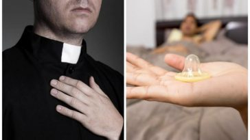 ksiądz kradzież prezerwatywy